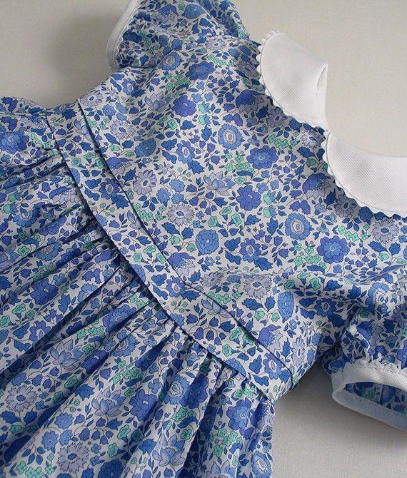Liberty Blue D Anjo Baby Dress  828c3ed181d