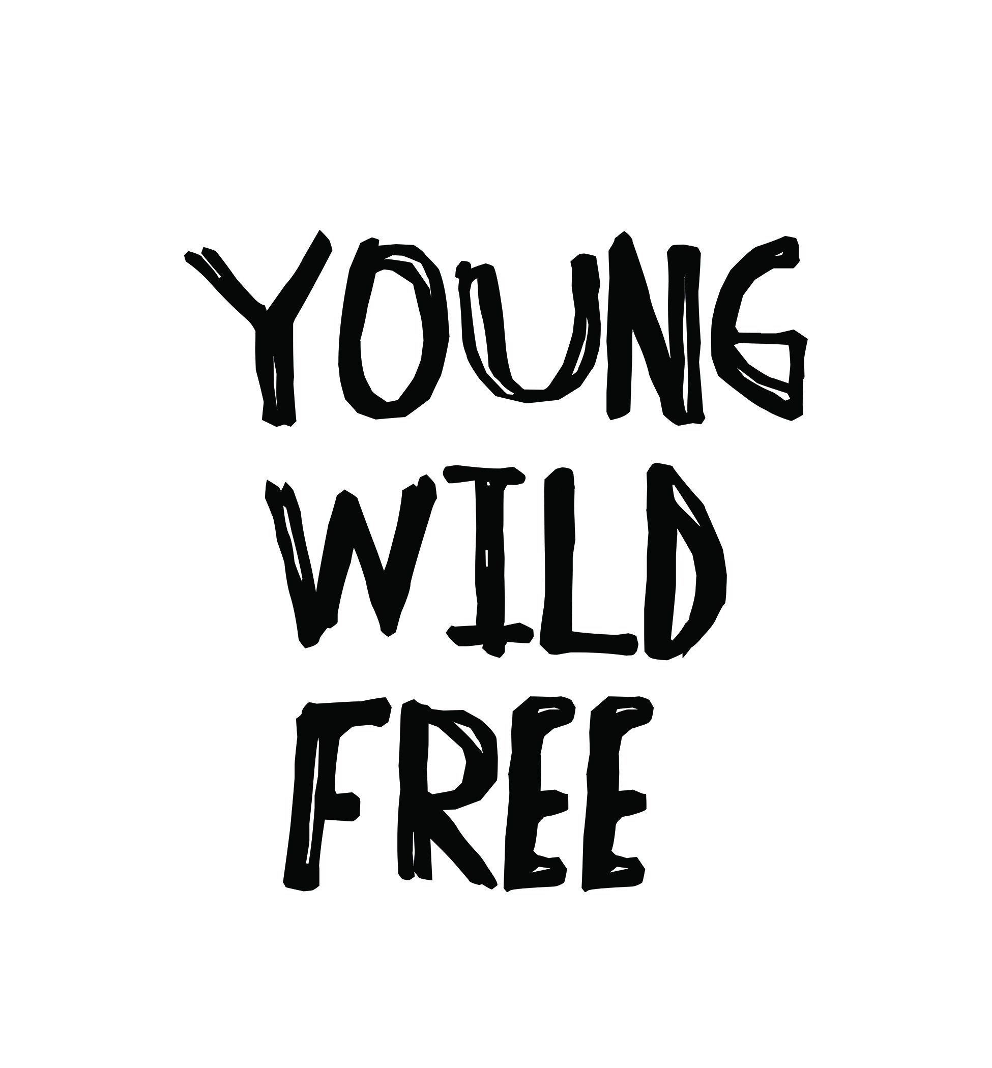 Young wild free calligraphy sticker by bohodreamoutfitters on etsy https www