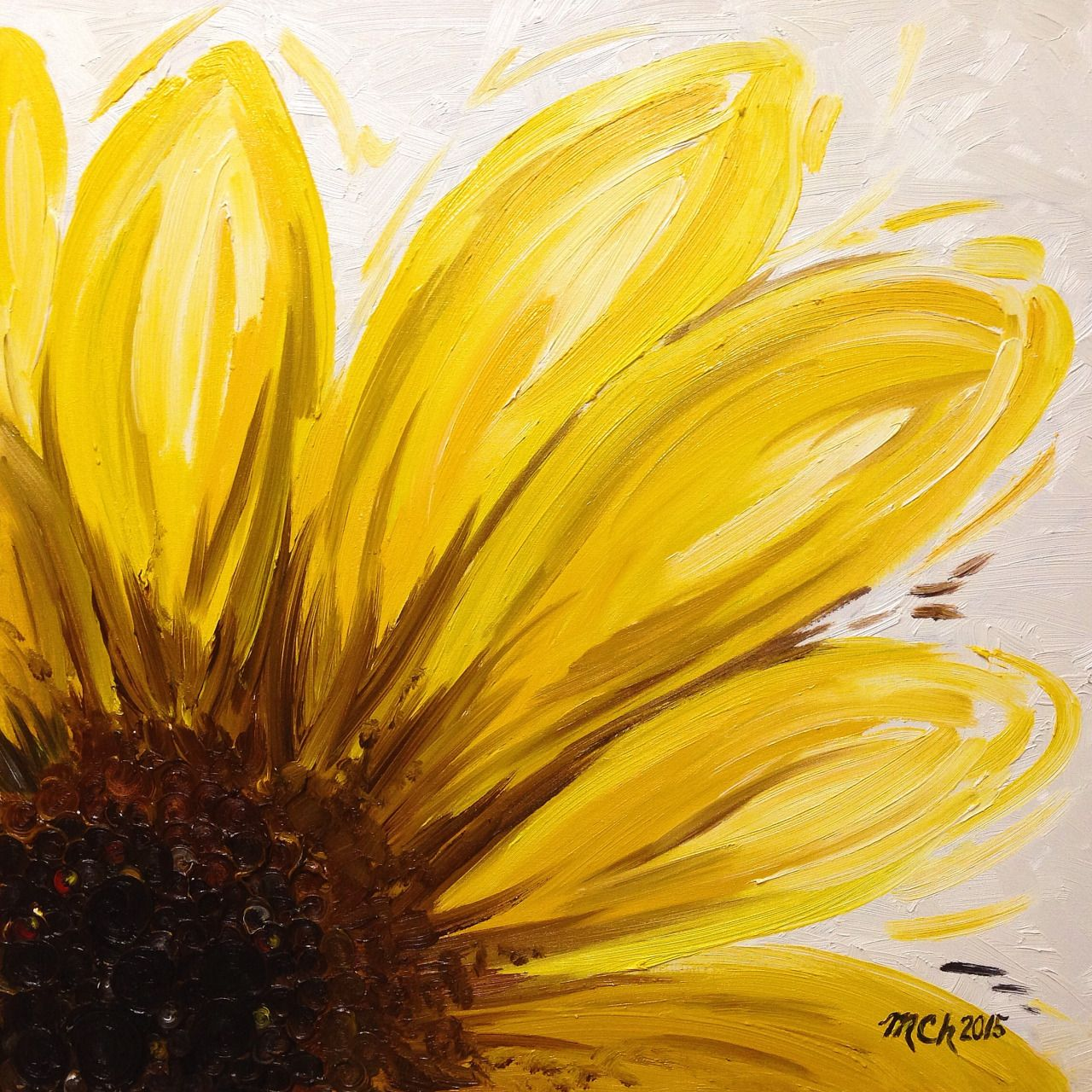 sunflower earth without art is just eh oil pastel art