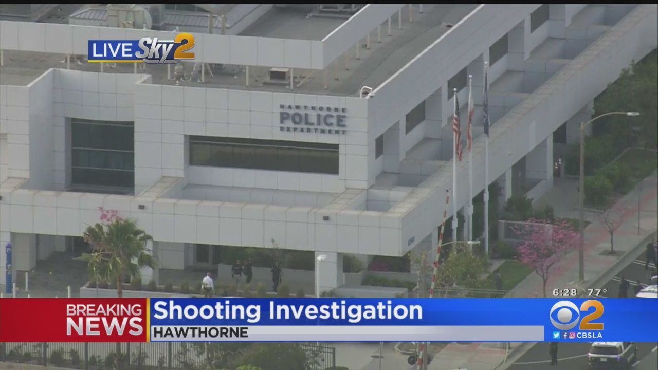 Woman Shot And Killed In Front Of Hawthorne Police Station During Custody Exchange Cbs Los Angeles Police Station Police Studio City California