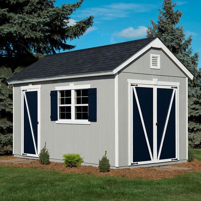 Crestwood 8u0027 X 14u0027 Wood Storage Shed