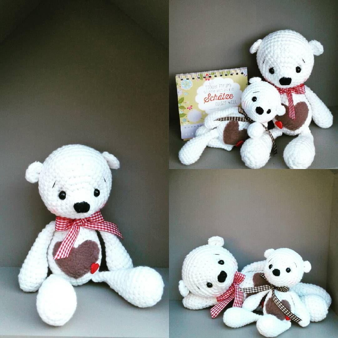 Ich durfte Test häkeln für die zauberhafte @haekelnundkuscheln ..Ich Liebe Ihren Eisbär Micha..tausend Dank für Dein Vertrauen du Liebe.. #crochet #crochetersofinstagram #knitting #teddybear #teddy #häkelnisttoll #häkeln #marleensmadeforyou #lovecrochet #amigurumi #amigurumis #amigurumidoll #crochetlove #knittinglove #yarnlover #diy