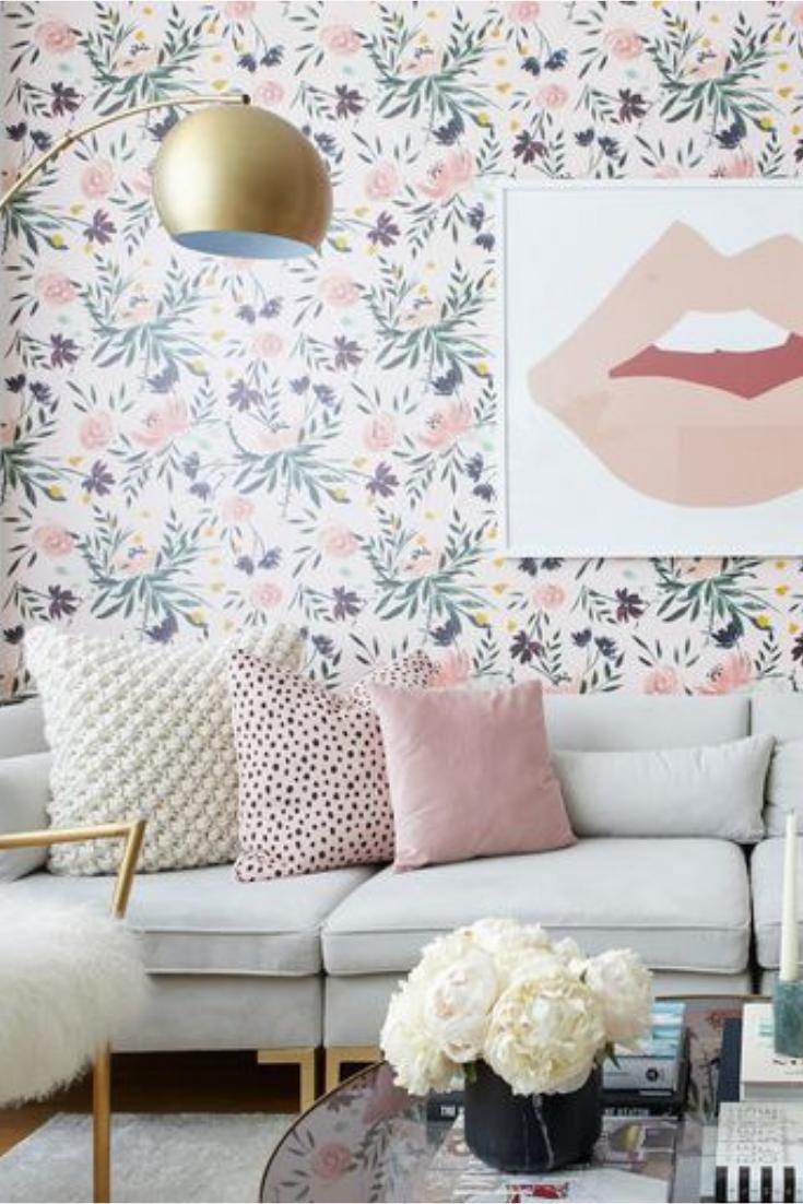 20 idées déco de papier peint pour son salon - #20 #de #déco #idées