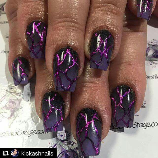 Pin By Lisa Linardo On Nails Purple Nail Art Halloween Acrylic Nails Purple Nails