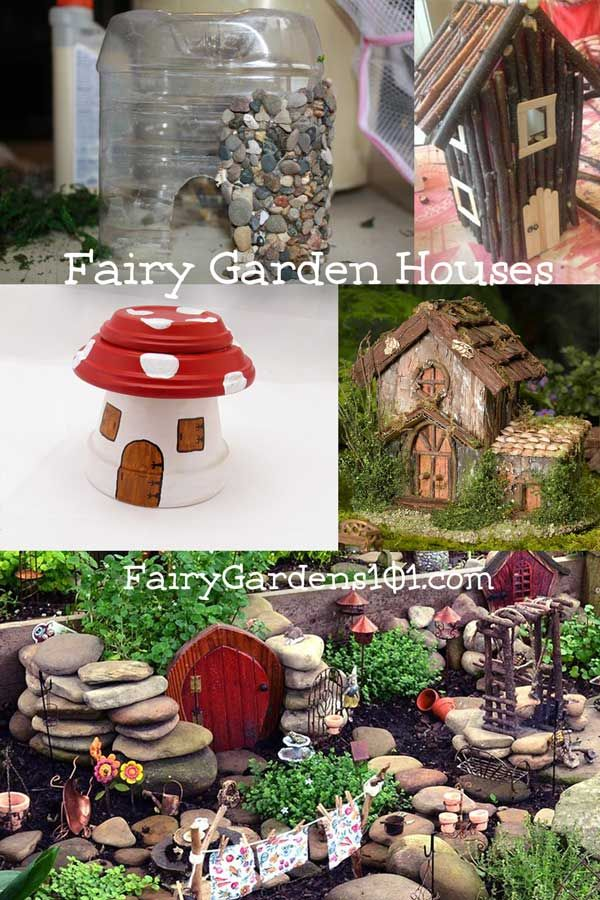 It S Easy To Make Fairy Garden Houses With A Little Ingenuity