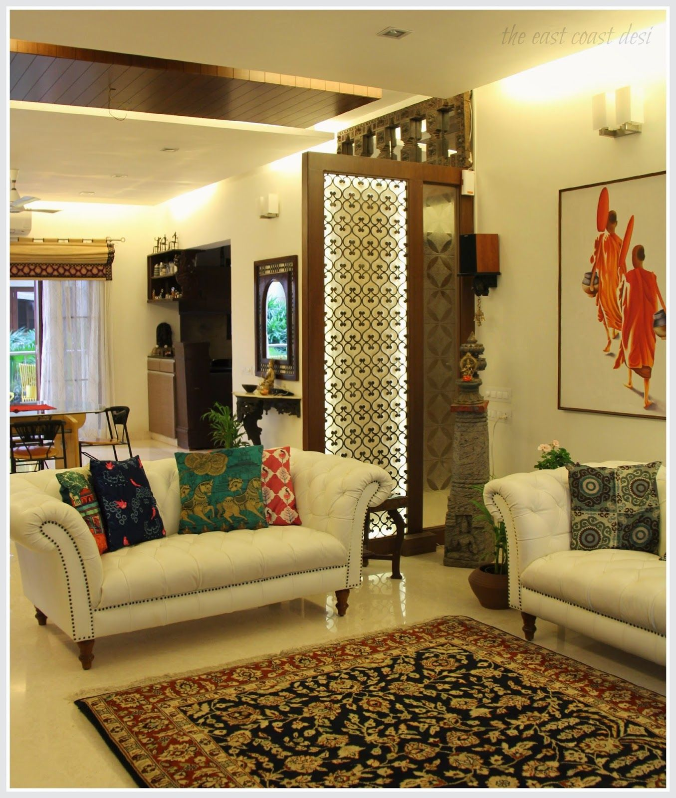 The east coast desi masterful mixing home tour decor - Interior design ideas for indian homes ...