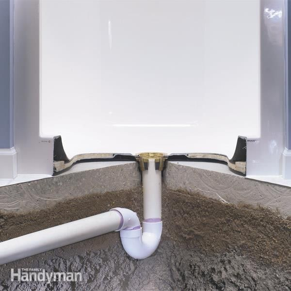 Preformed, One Piece Shower Bases Make Installing A New Shower Much Easier.  This