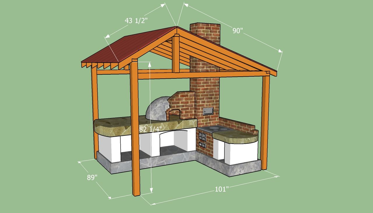 Welp How to build a shelter for the pizza oven | DIY: Outdoor Projects WS-19