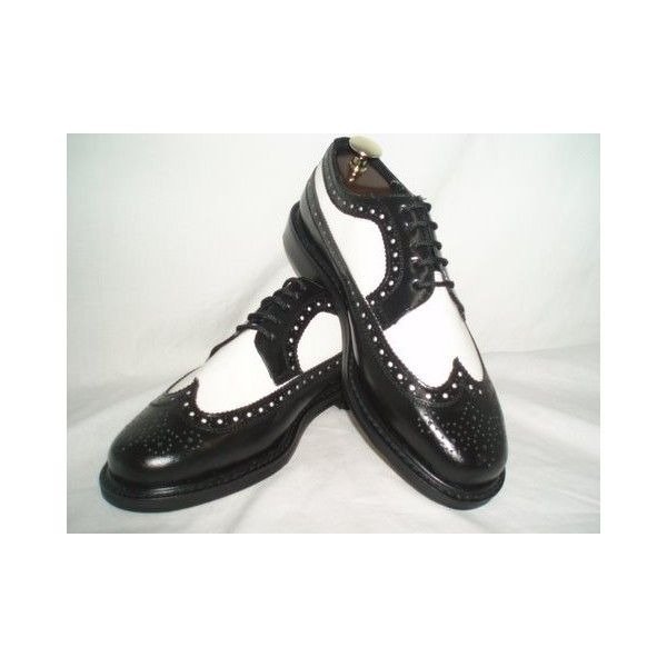 Brentano Shoes BlackWhite Wingtip 1920 1930 1940 Vintage