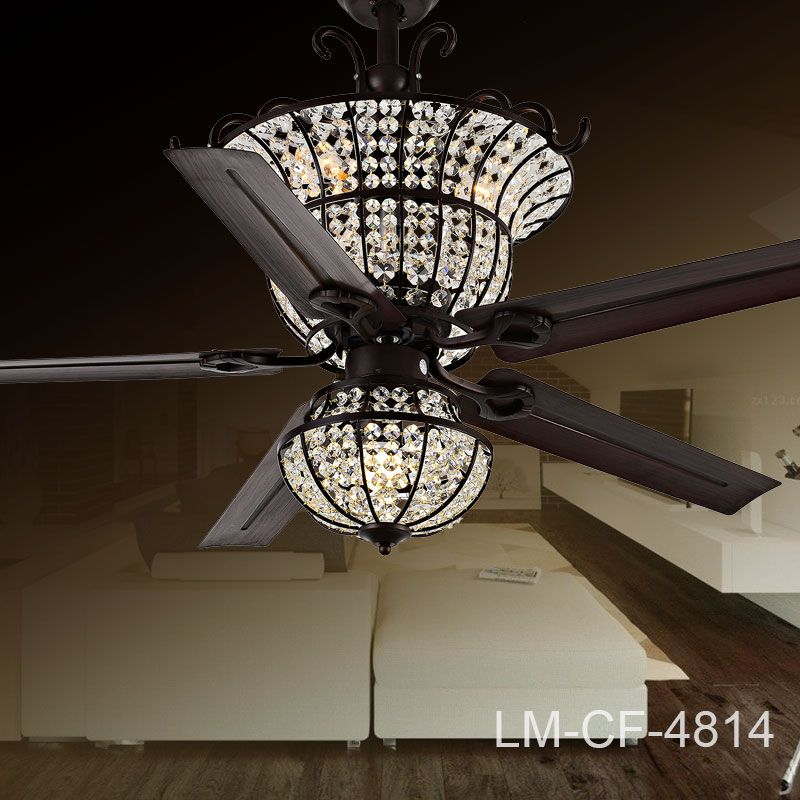 Spider Crystal Ceiling Fan 4814 Reverse Switch Remote Control In Ceiling  Fans From Lights U0026