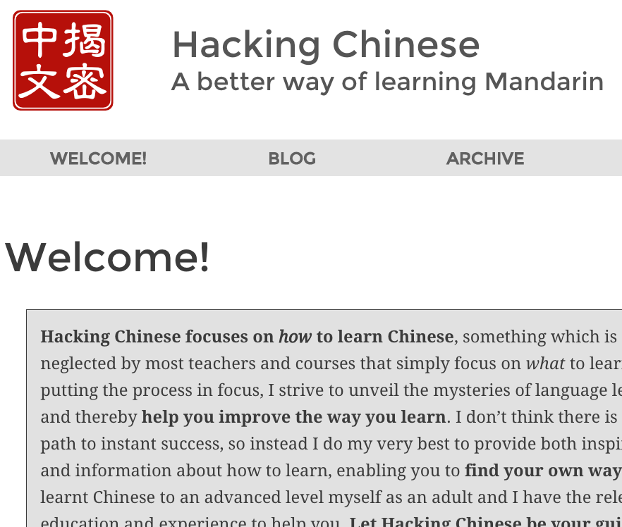 Hacking Chinese A better way of learning Mandarin