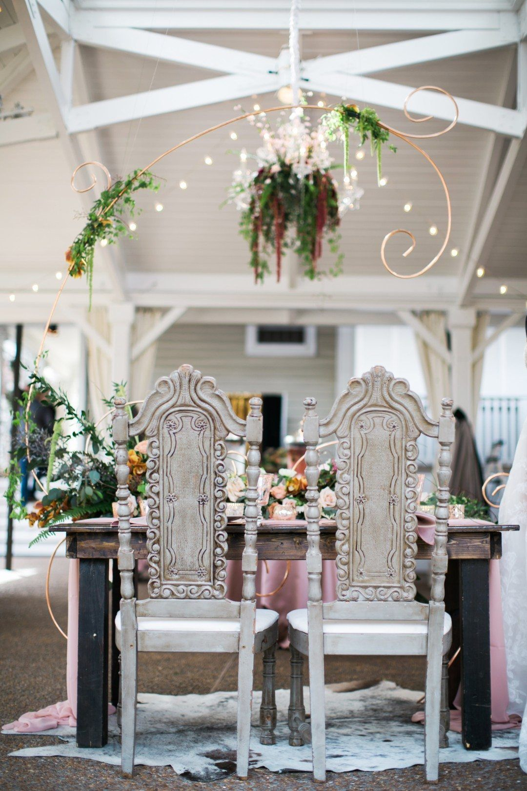 Wedding decorations rental  Wedding Style Inspiration Feminine Modern u Boho at CJus Off the