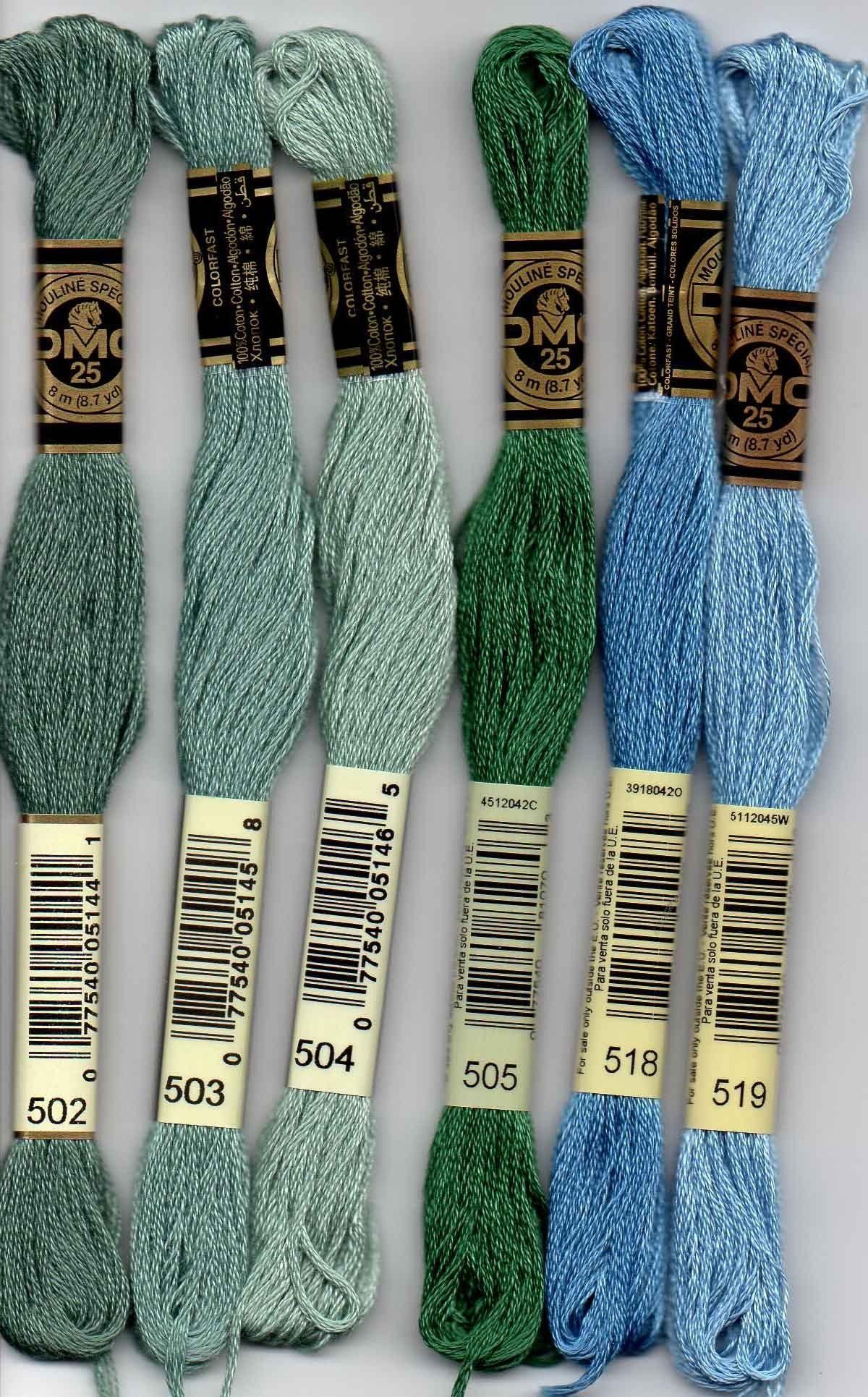 DMC Stranded Cotton Embroidery Floss Colour 564 Very Light Jade