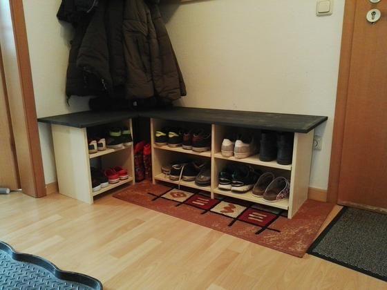 Sitzbank Mit Schuhablage Bauanleitung Zum Selber Bauen Selber Machen Schuhablage Ablage Selber Bauen