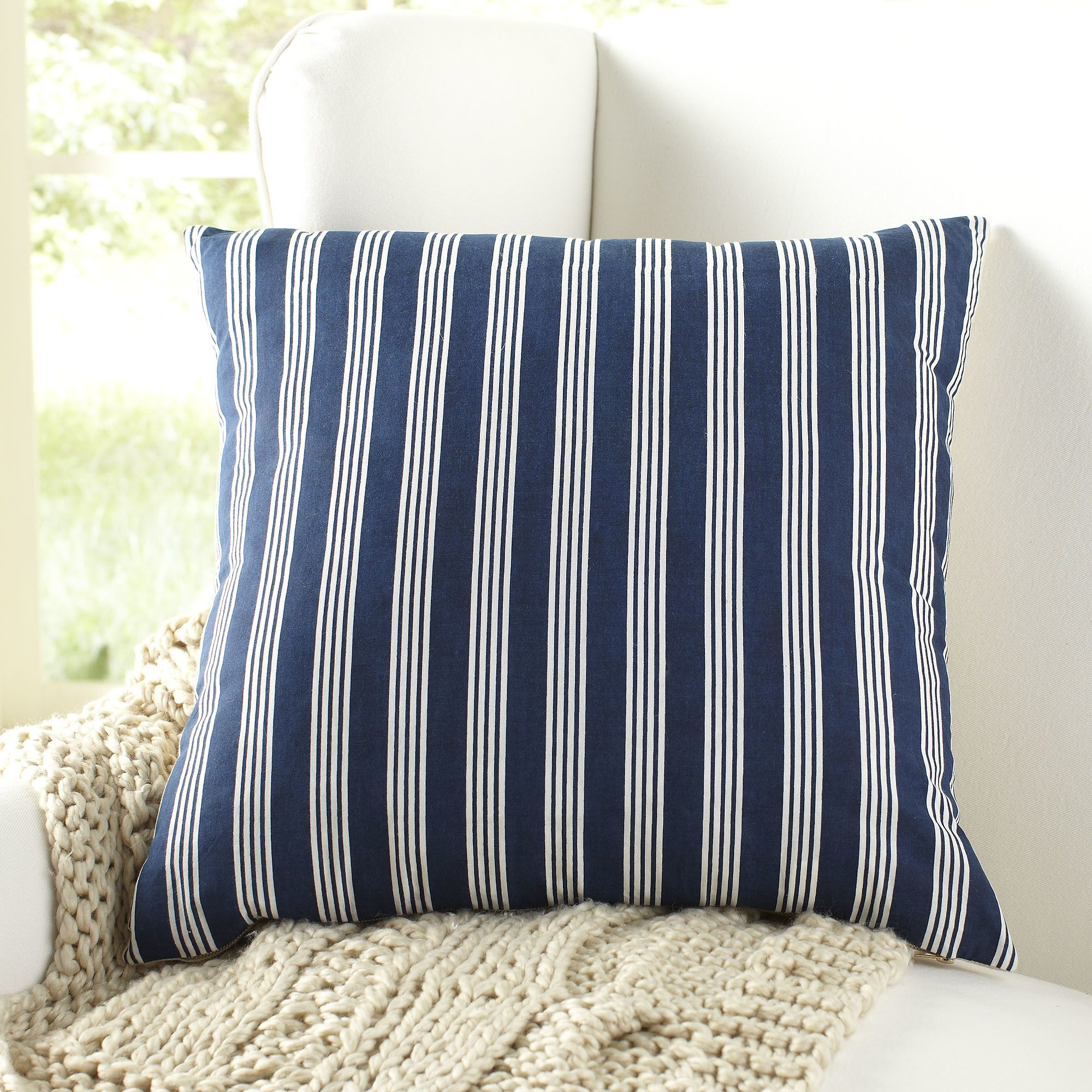 Birch lane vaughn striped pillow cover coastal style decor