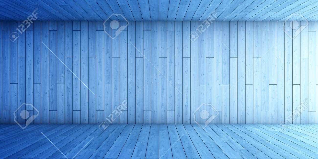 Abstract background of blue tunnel 3D illustration Stock Photo