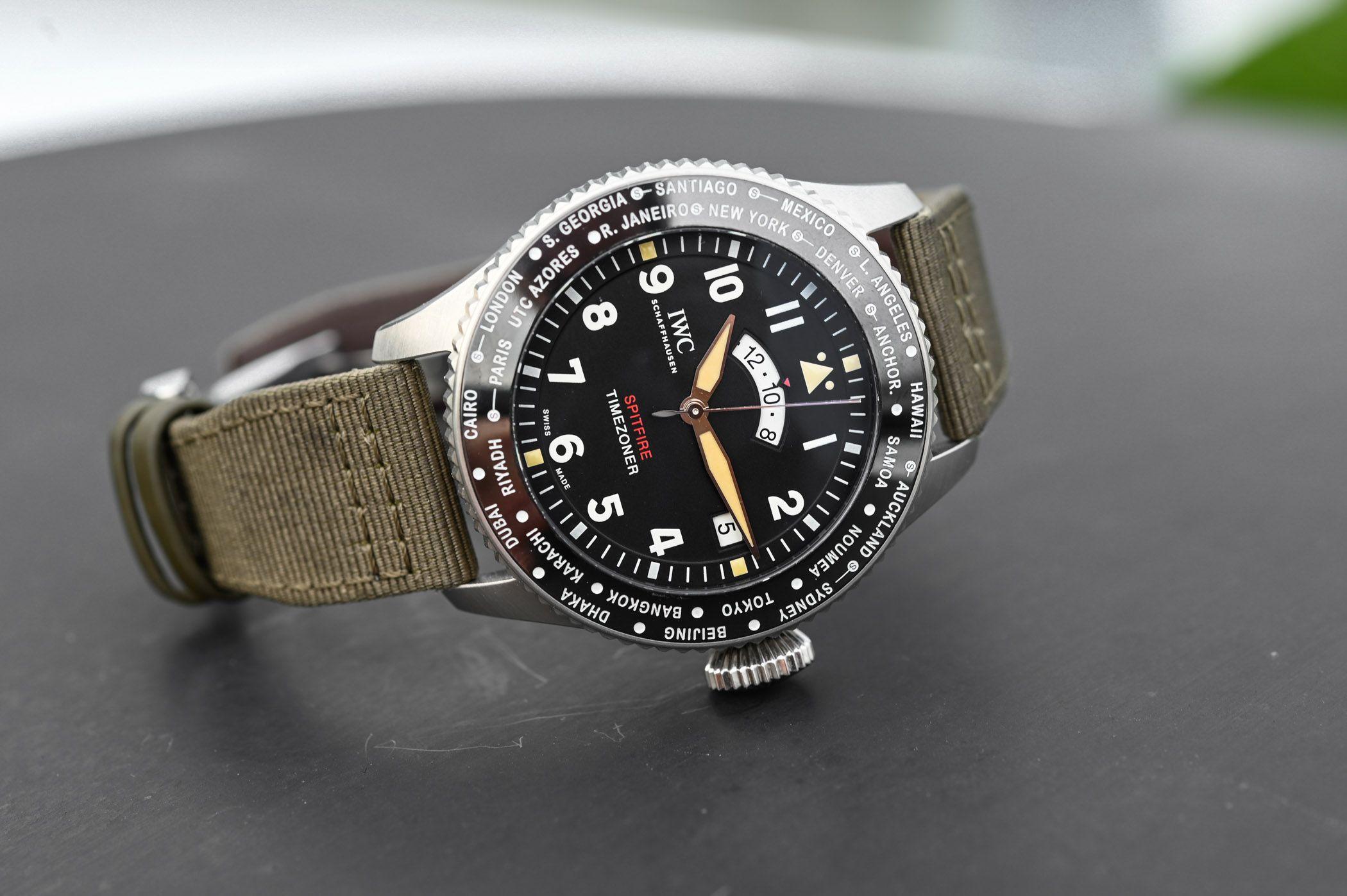 d28b1945843 IWC Pilots Watch Timezoner Spitfire Edition The Longest Flight IW395501 -  SIHH 2019
