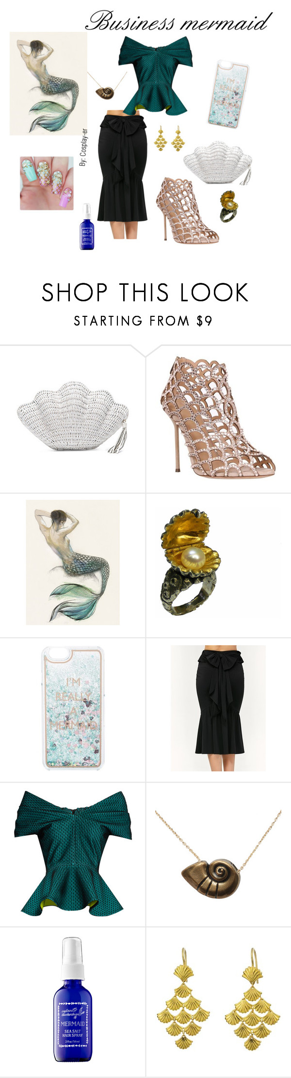 """""""Business Maermaid"""" by cosplay-er ❤ liked on Polyvore featuring Kayu, Sergio Rossi, Russell Lownsbrough, Charlotte Russe, Emilio De La Morena, Disney, Captain Blankenship and Marie Hélène de Taillac"""