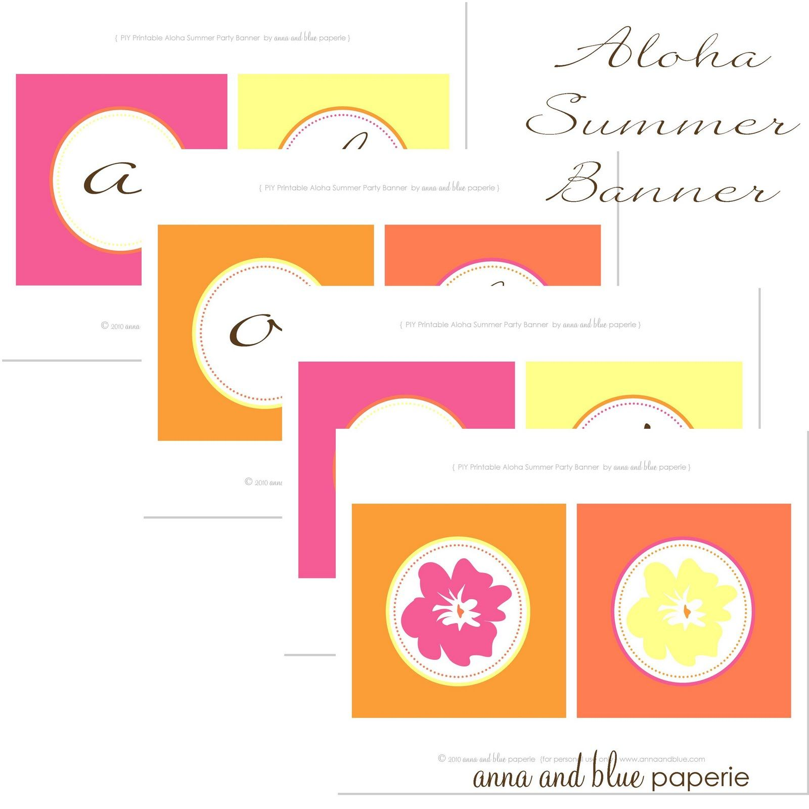 anna and blue paperie: Aloha Summer Party Details & FREE Printable!