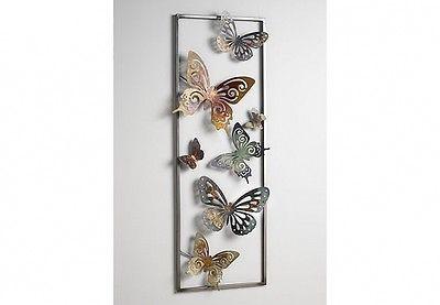 Luxury Details zu Wanddeko aus Metall Schmetterlinge Wandbild Metallbild Wanddekoration Bild