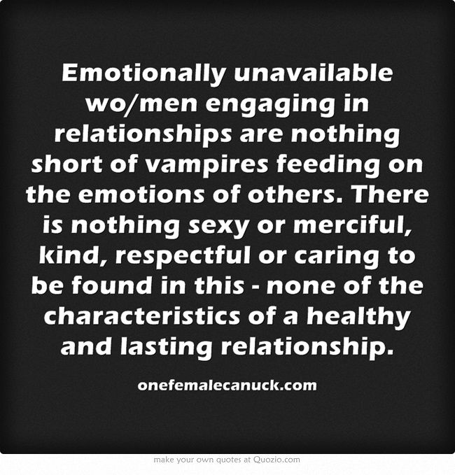 Emotionally unavailable definition