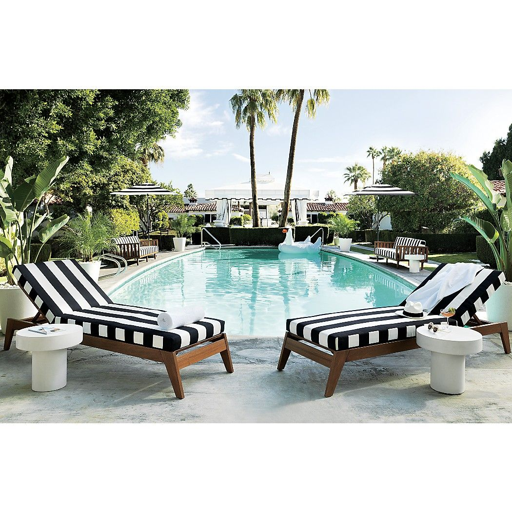 Filaki Black and White Striped Chaise Lounge + Reviews | Summertime ...