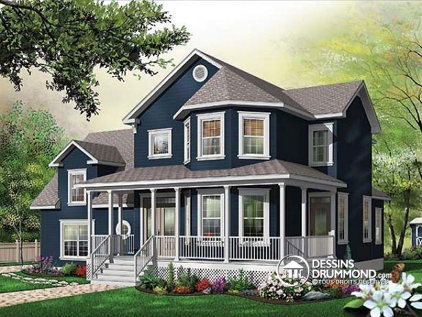 W3836 - Cottage bien fenêtré, plafond 9u0027, plafond cathédrale, espace