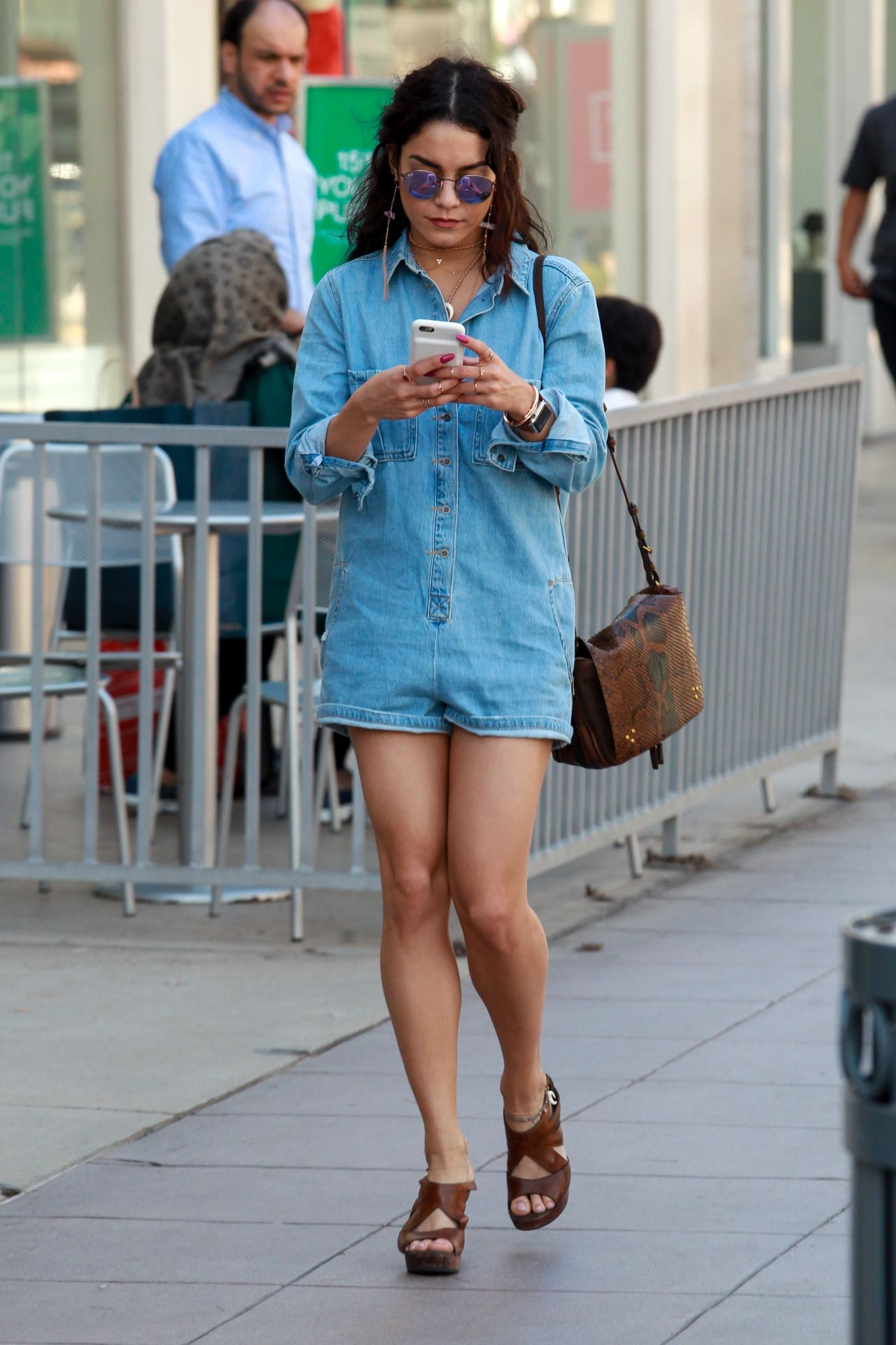 Vanessa Hudgens Out and about Third Street Promenade in Santa Monica - April 5th