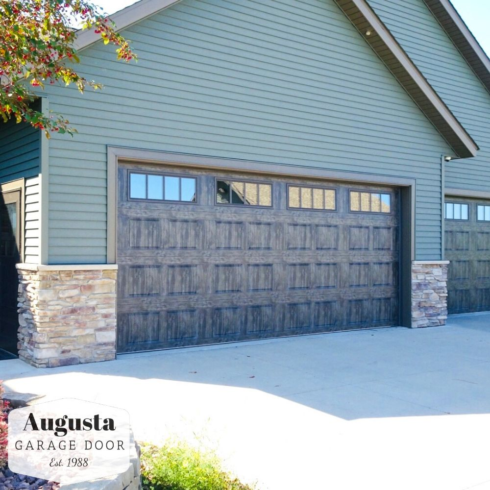 Clopay Gallery Collection Garage Door In Oak Slate Installed By