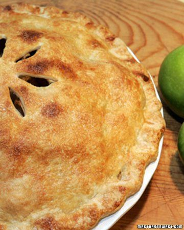 Mile-High Apple Pie-Martha Stewart Favorites Resist the urge to cut into this pie before it has cooled completely so the juices have time to thicken. This pie tastes even better the day after it has been baked. YIELD:makes one 9-inch pie