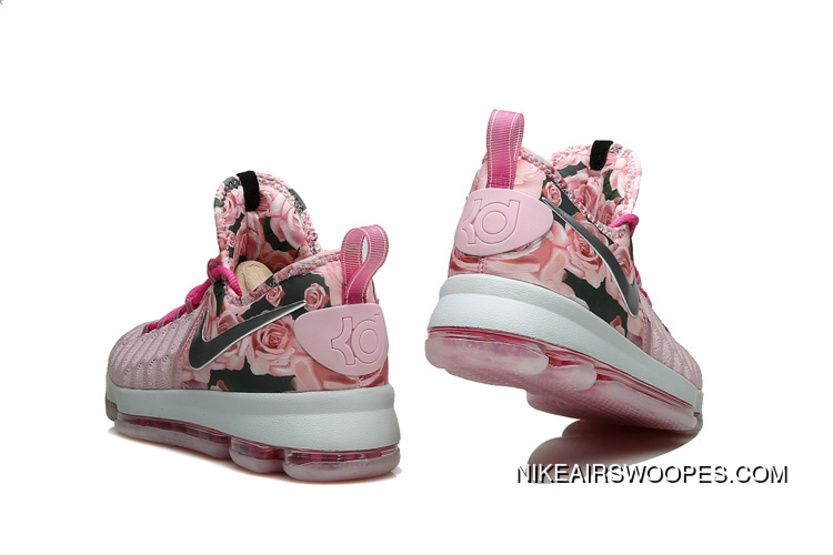 on sale c0bb9 2ad5e 2019 的 Nike KD 9 Pink Black Aunt Pearl Flora New Release ...