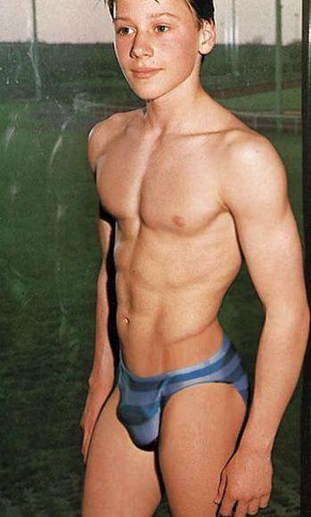 shirtless Cute boys beach the blonde at