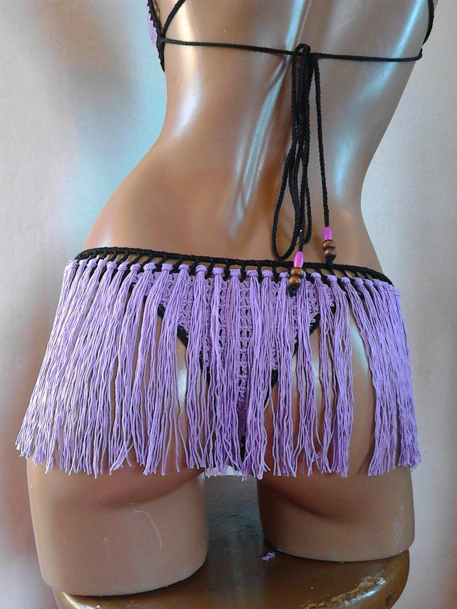 85f023b47c Bikini Traje D Baño Brasileño Sexy Tejido Crochet, Ganchillo en MercadoLibre
