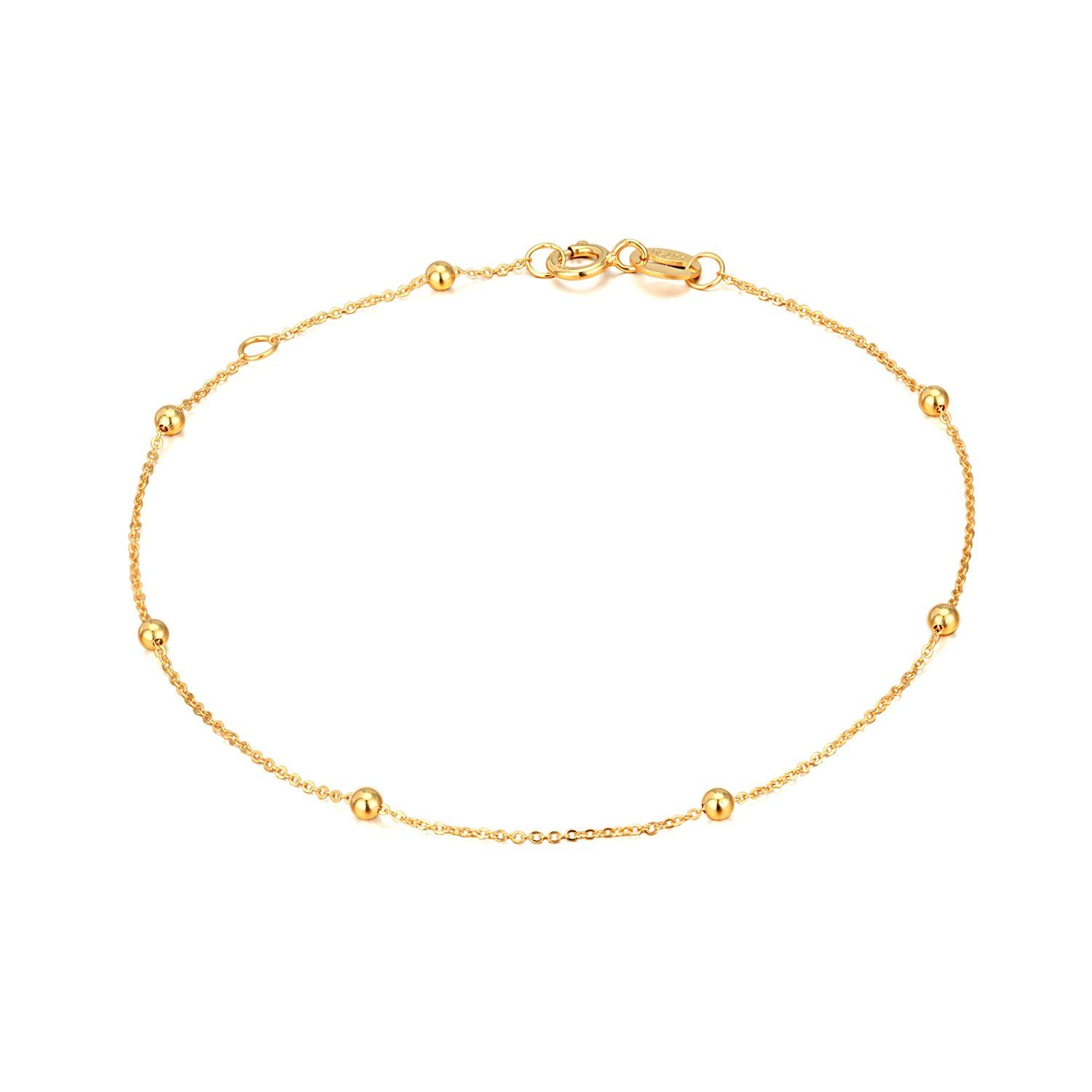 fd640b078f25f SISGEM 14K, 18K Gold Bracelets for Women Girls, Bead Ball Dainty ...