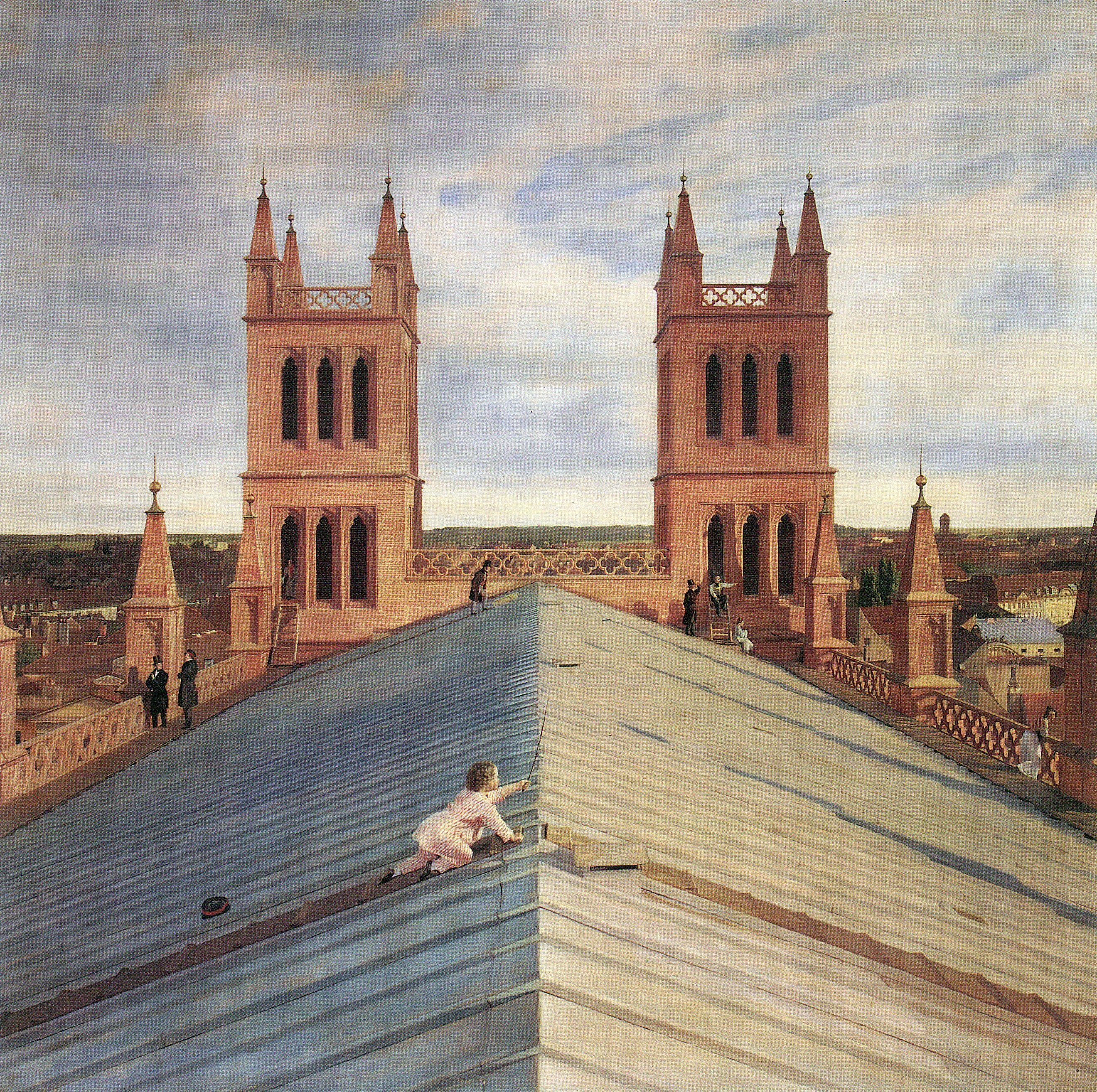 Eduard Gärtner. Panorama von Berlin vom Dach der Friedrichswerderschen Kirche aus. 1834