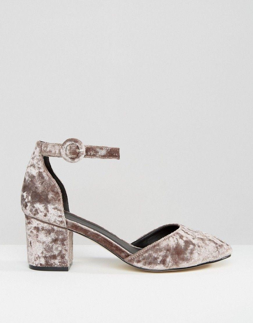 Image 2 ofASOS SPICE Velvet Heels