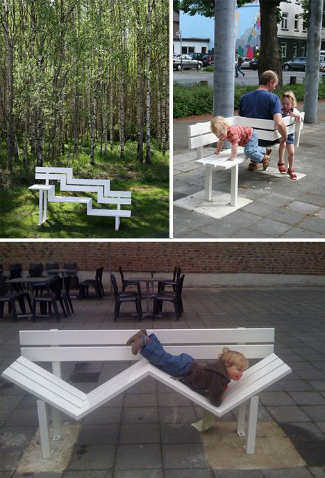 Interactive Alternative Benches Public Seating Publices Fences Rooftop Alternative Picket
