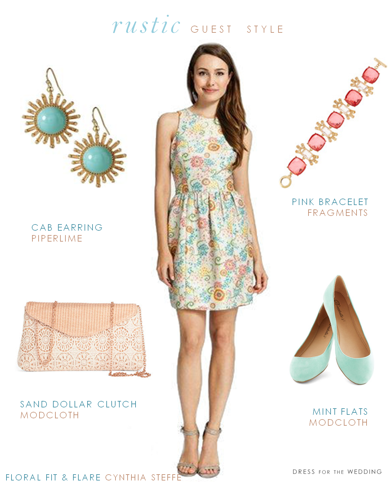 Dress for wedding guest spring  What Should a Guest Wear to a Rustic Wedding  attires  Pinterest