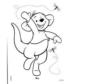 Walt Disney Roo From Winnie The Pooh Coloring Pages Picture