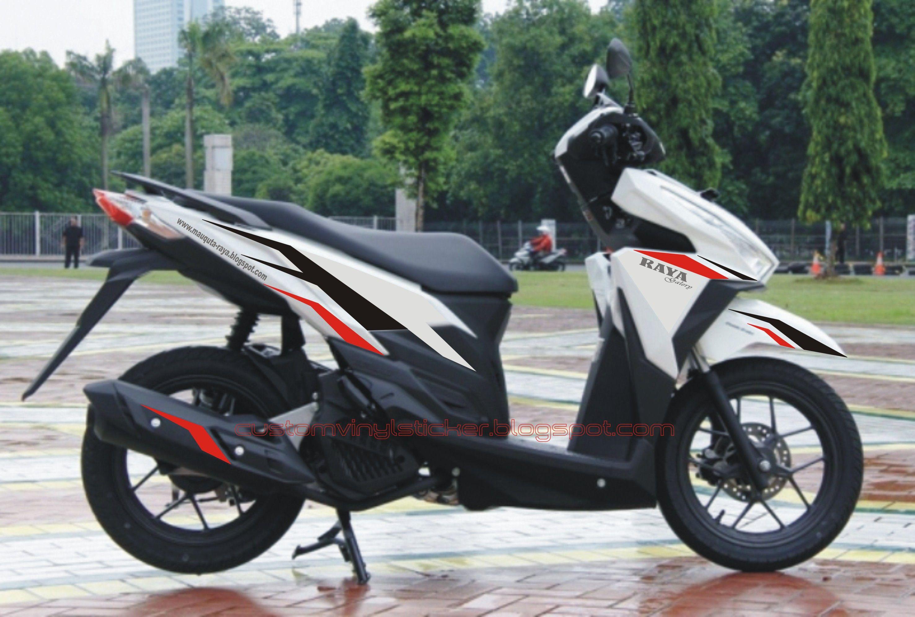 Honda vario 150 esp white raya galerys branding concept sticker