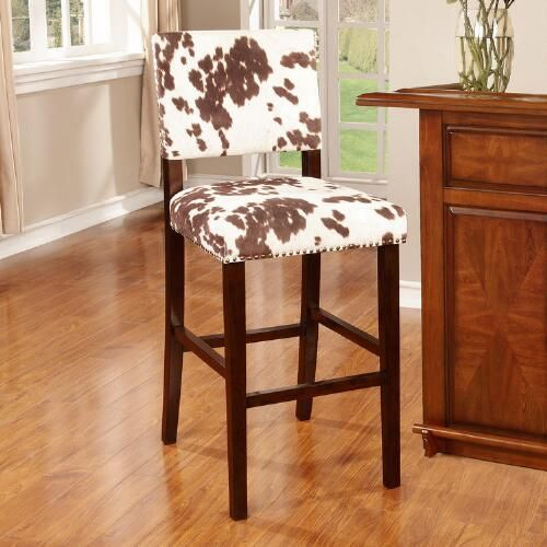Miraculous Brown Cow Print Addison Bar Stool World Market A Kitchen Gmtry Best Dining Table And Chair Ideas Images Gmtryco