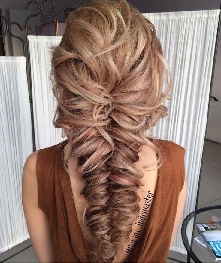 voluminous fishtail braid hair