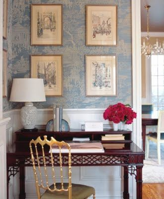 modern toile room - Google Search