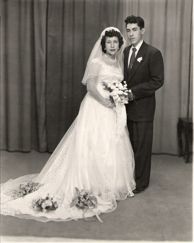 50's Bride & Groom Black And White Photo