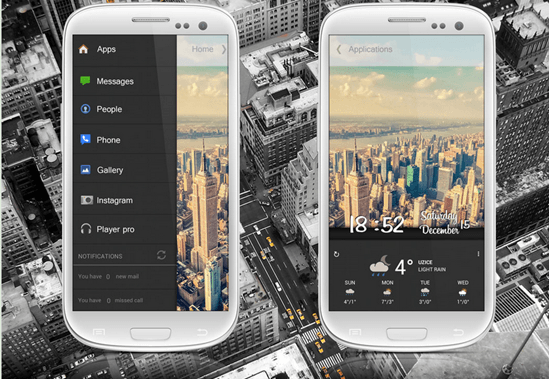Awesome Customized Android Home Screen Designs Screen