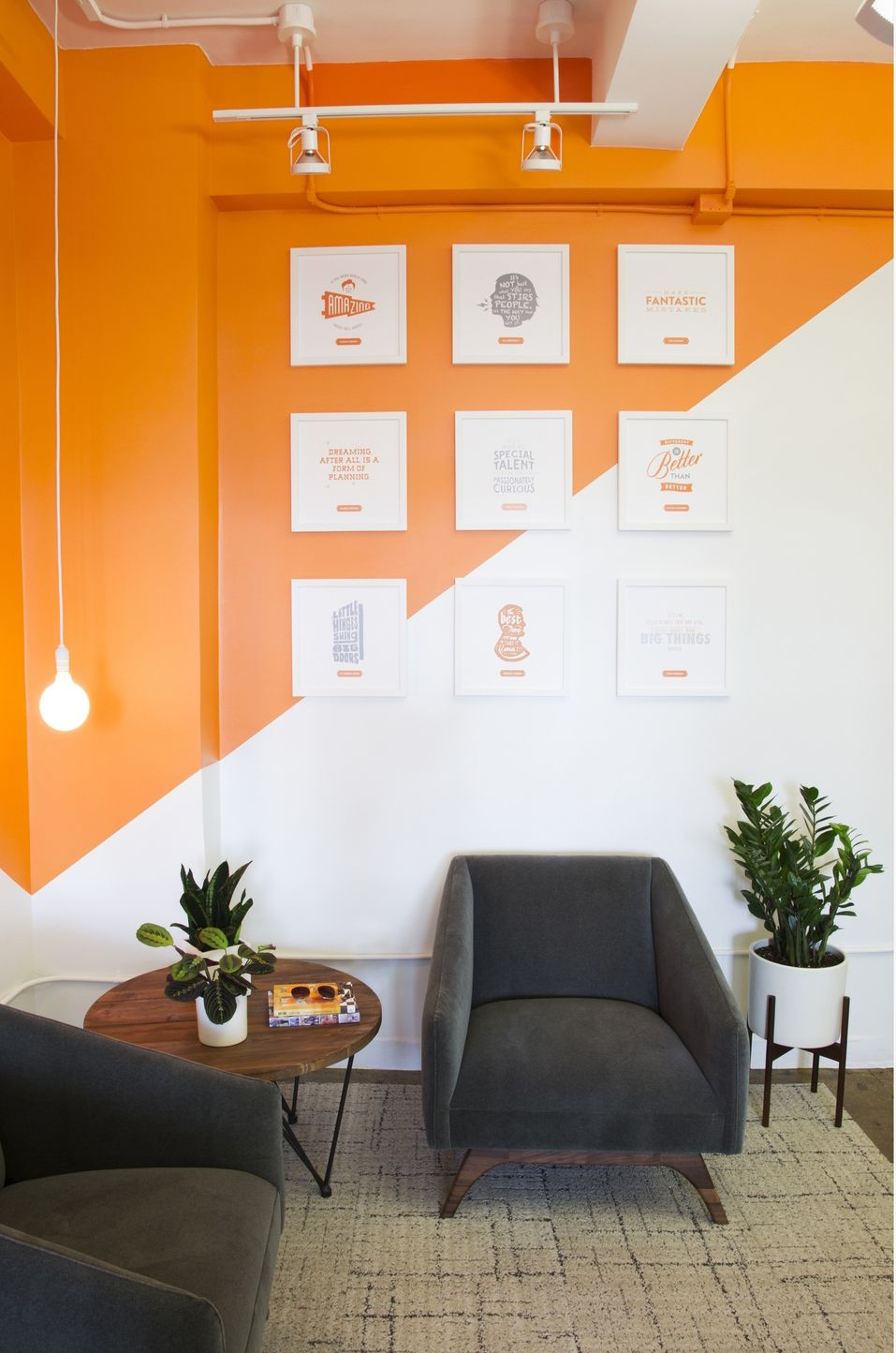 a look inside day one agency s modern nyc office office on commercial office colors for walls id=68480