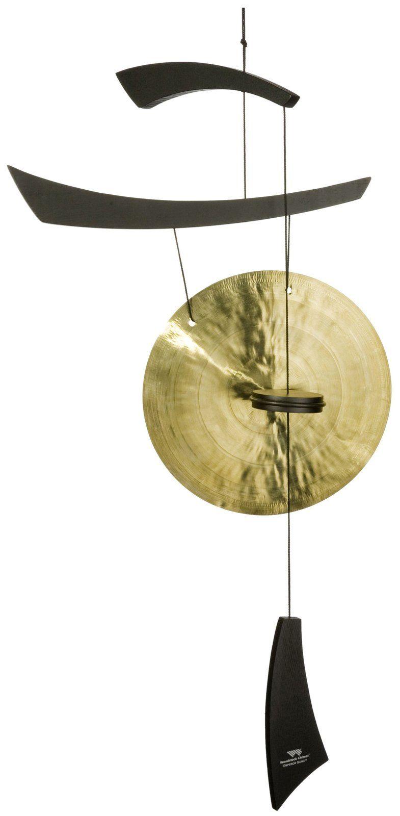 Emperor Medium Gong Black Wood Casa Com Windspiele Klangspiel Garten