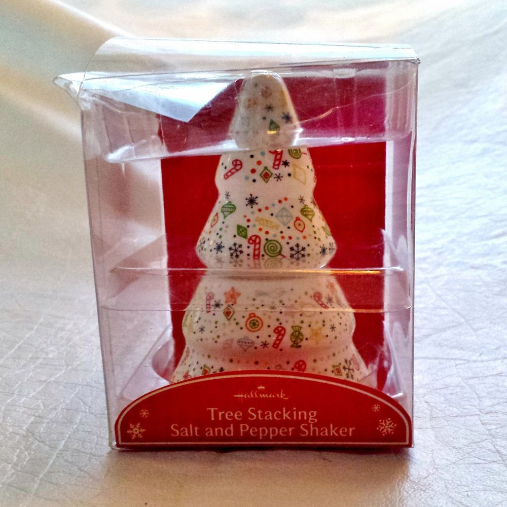 hallmark ceramic christmas tree salt and pepper shaker set hallmarkchristmas