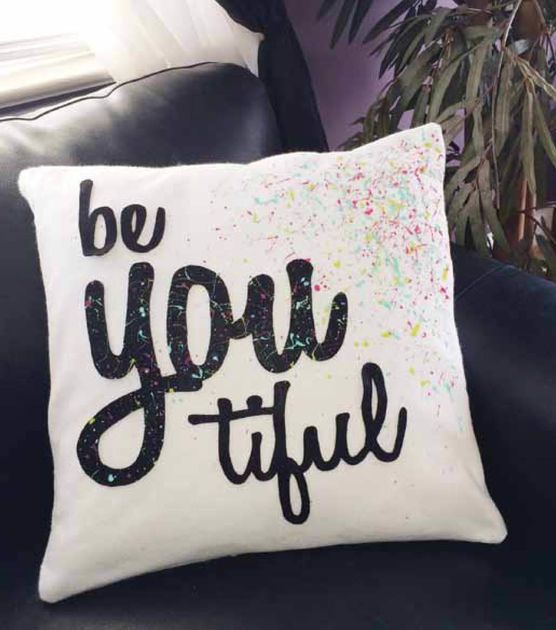 Graffiti Be-you-tiful Pillow Slipcover | Diseños p/Cojines | Cojines ...