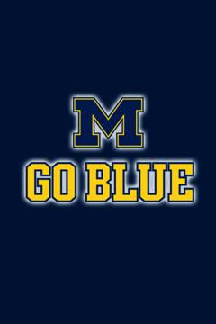 Michigan Go Blue iPhone Wallpaper